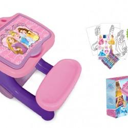 Birou de activitati cu set de colorat 30 piese Disney Princess - D`Arpeje