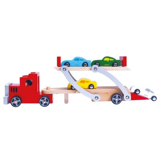 Camion cu platforma si masinute - Bino