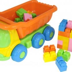 Camion cu set de constructii - 35 piese - Polesie Wader