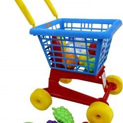 Carucior cu alimente - set supermarket - Polesie Wader