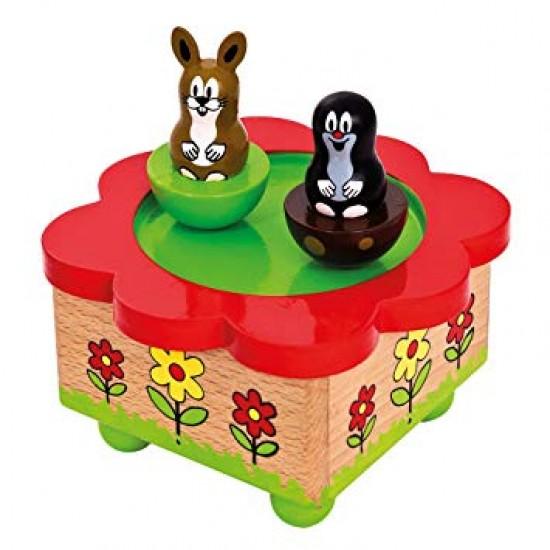 Cutie muzicala din lemn, magnetica - Little Mole - Bino