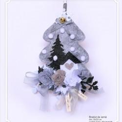 Decoratiune handmade cu lavanda - bradut