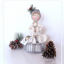 Decoratiune handmade cu lavanda - colindator