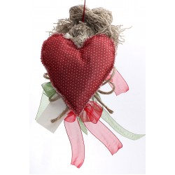 Decoratiune handmade cu lavanda - inimioare mesager