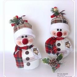 Decoratiune handmade cu lavanda - om de zapada