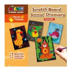 Joc creativ de razuit - Descoperirea animalelor - Avenir