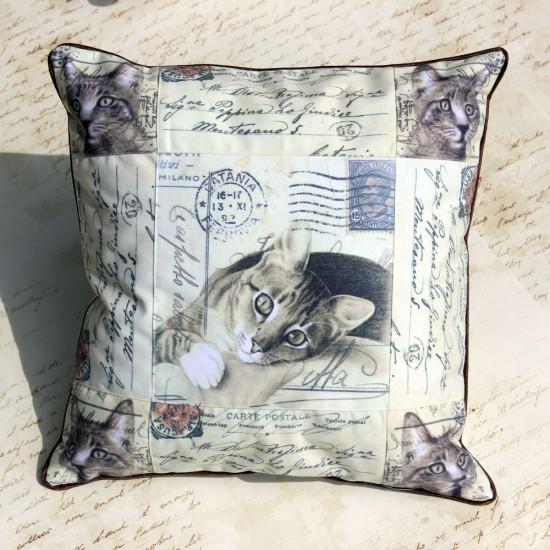 Perna decorativa cu lavanda – Pisica