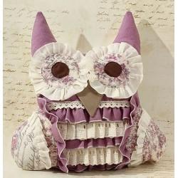 Perna handmade cu lavanda – bufnita mov
