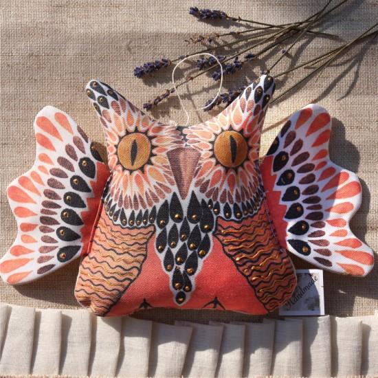 Decoratiune handmade cu lavanda – bufnita