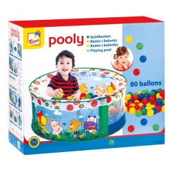 Loc de joaca cu 80 de bile colorate - Bino