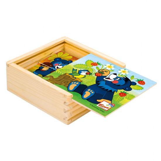Primul meu puzzle - 4 puzzle-uri cu ursuleti - Bino