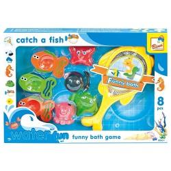 Set 8 jucarii de baie - Pescuit animale marine - Bino