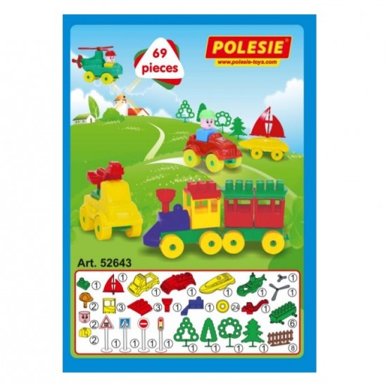 Set constructie Tanarul Calator - 69 piese - Polesie Wader