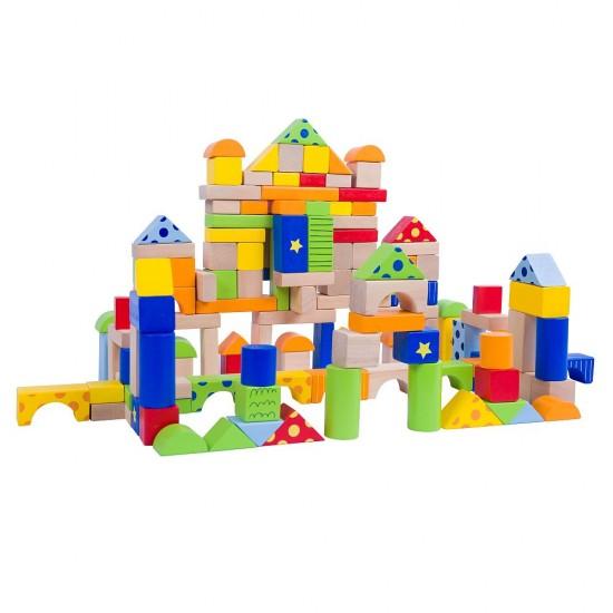 Set constructii din lemn cu modele - 150 piese