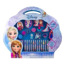 Set creativ mare cu stampile 40 piese Disney Frozen - D`Arpeje