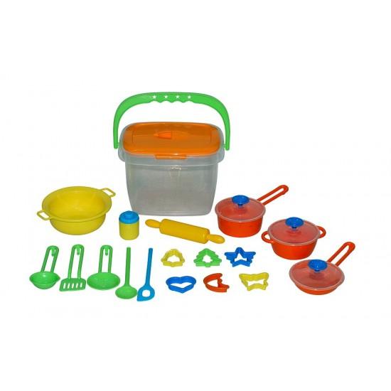 Set pentru gatit - 20 accesorii de bucatarie - Polesie Wader