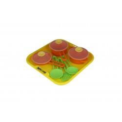 Set tavita cu accesorii de bucatarie pentru copii - Polesie Wader