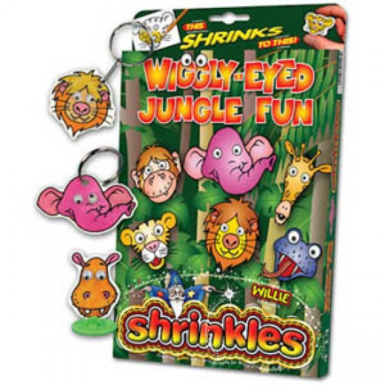 Shrinkles - Realizeaza-ti propriile accesorii - Animalele din jungla