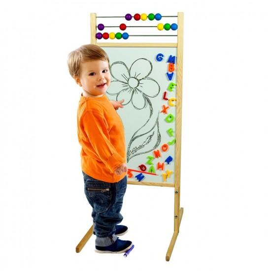 Tabla mare de scris 2 în 1, cu accesorii, pentru copii
