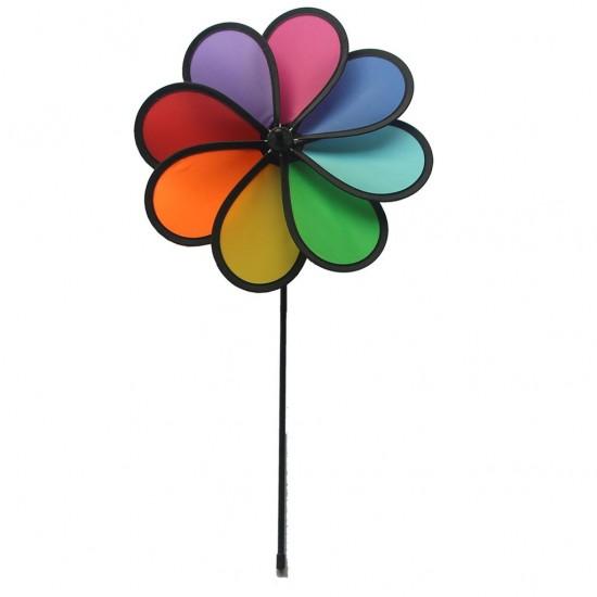 Decoratiune gradina - Morisca de vant in forma de floare 30 x 42 cm - Rhombus