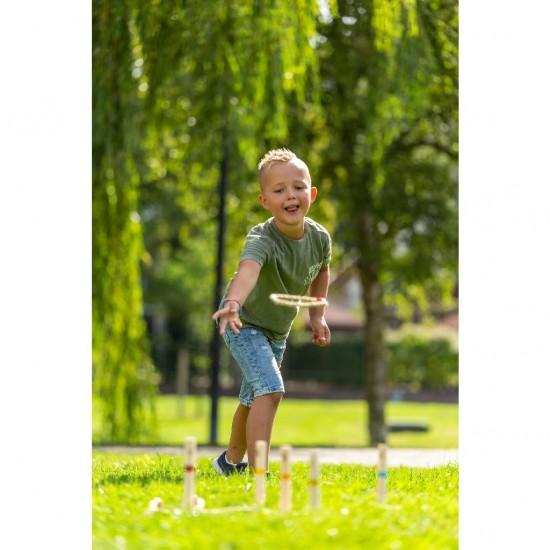 Joc din lemn, de aruncat la tinta - inele din franghie - Outdoor Play