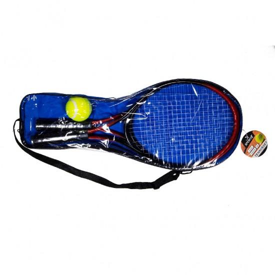 Set de tenis pentru copii, cu 2 rachete si o minge - SportX
