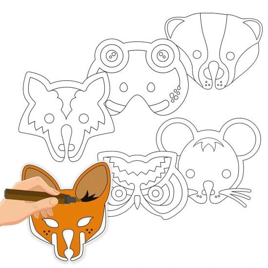 Set creativ - creeaza-ti propriile masti din hartie cu animale
