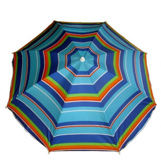 Umbrela de soare, pentru plaja, balcon, gradina sau terasa, diametru 180 cm