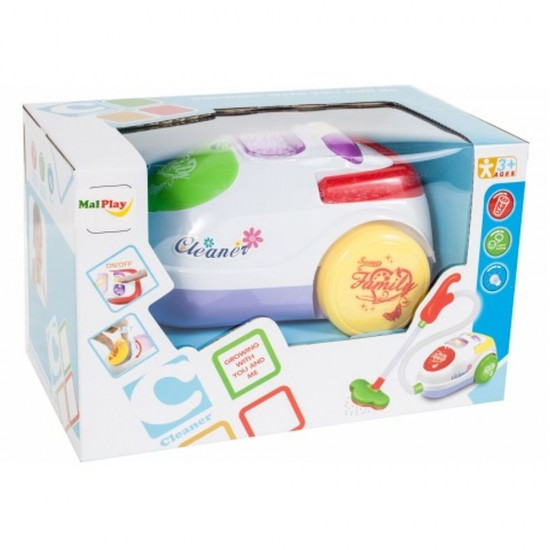 Aspirator de jucarie pentru copii, cu lumina, sunete si bile care pot fi aspirate