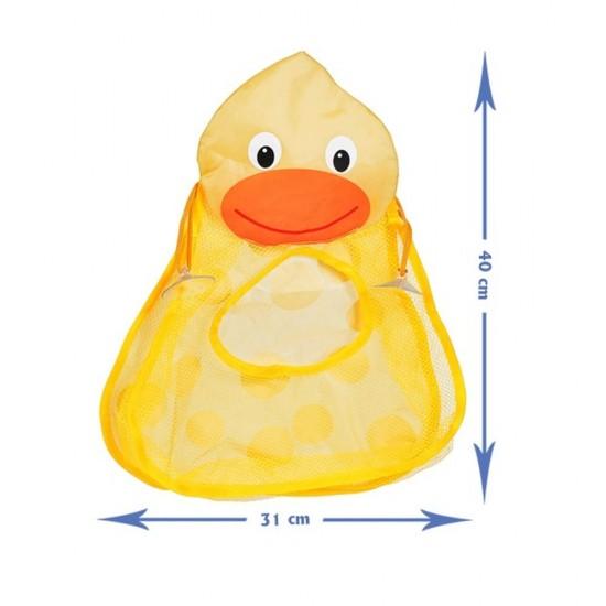 Sac organizator pentru jucarii de baie, 40 cm x 31 cm - Ratusca
