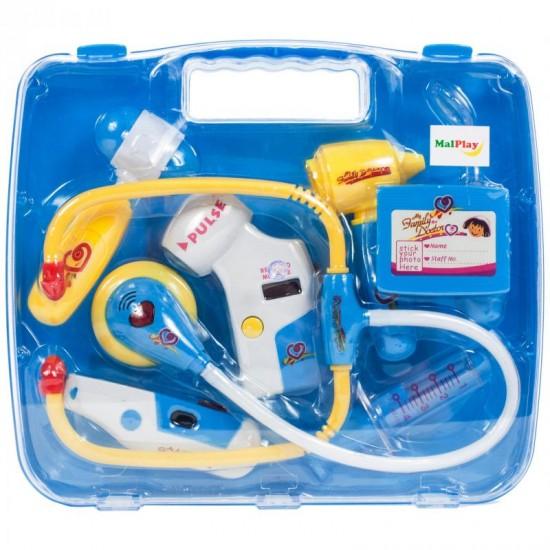 Trusa de doctor in valiza, cu sunete si lumini - MalPlay