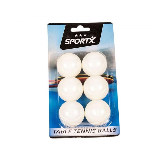 Set 6 mingi tenis de masa, albe - SportX***