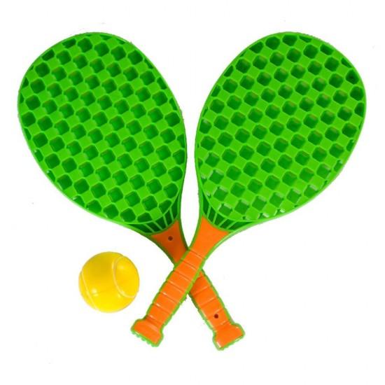 Set mini tenis pentru copii, cu 2 rachete si o minge - Summertime