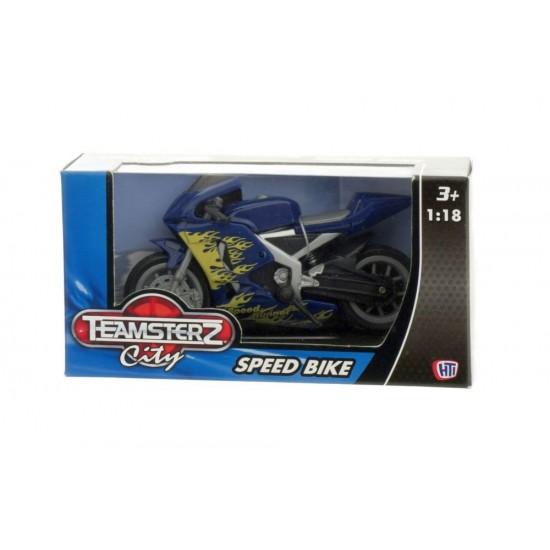 Motocicleta 1:18 diverse culori  - 10 cm - Teamsterz