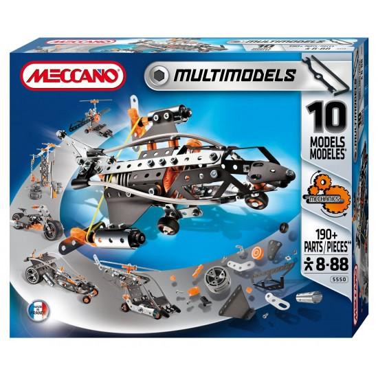Set constructie 10 modele, 190 piese - Meccano