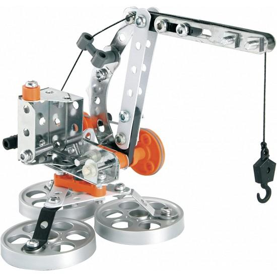 Set constructie 5 in 1 (Elicopter, Macara, Bicicleta) - Meccano