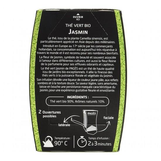 Ceai verde bio cu Iasomie - cutie 20 plicuri