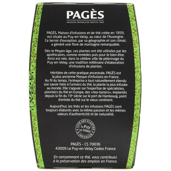 Ceai verde bio cu Lamaie si Lamaie verde Pages - cutie 20 plicuri