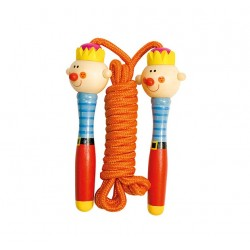 Coarda de sarit pentru copii cu manere amuzante - Bino