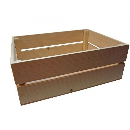 Cutie lemn natur mare -  38 x 28 x 12 cm