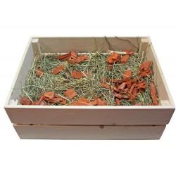 Cutie lemn natur mica -  28 x 18 x 12 cm