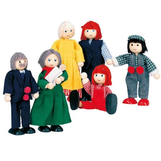Familie papusi extinsa - 7 personaje - Bino