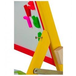 Tabla de scris 2 in 1, cu picioare - multicolora